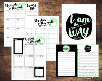 Printable Christian Arrow Planner Pack