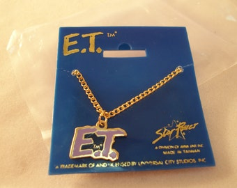 Vintage E.T. Licensed Movie Character Necklace - NIP