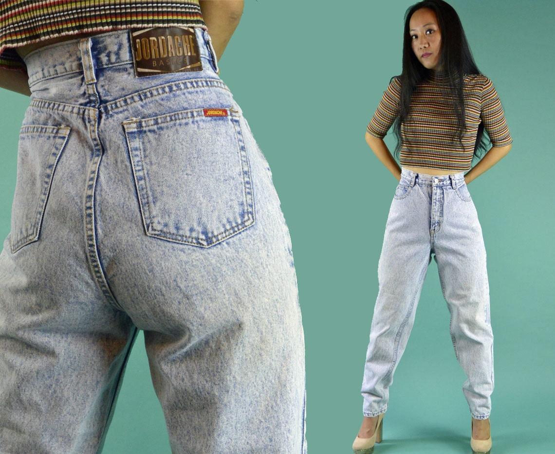 vintage 80er jahre high waist jeans jordache jeans acid wash. Black Bedroom Furniture Sets. Home Design Ideas