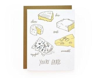 Grate - letterpress card