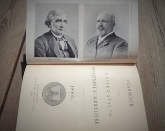 Antique Yearbook of the Department of Agriculture 1896