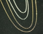 Simple Chain for Pendant or Locket, 14kt Gold Filled or Sterling Silver Chain, Delicate Chain Sterling Silver, Chain in Gold