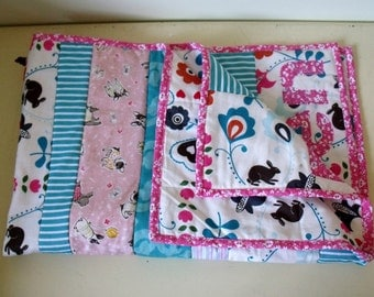 Modern Personalized Bespoke Baby Quilt Boy or Girl