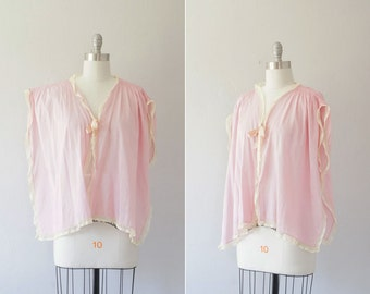 Final Sale // 1920s pale pink bed jacket / vintage 20s flapper lingerie / Juliet Rose bed jacket