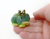 Frog Prince Figurine Miniature Beaded Fairy Tale Character Funny Valentine's Day Gift *MADE TO ORDER