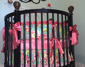 Ritzy Baby Made to Order Custom Baby Bedding, Round Crib Bedding, Love Bliss Baby Bedding