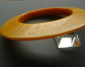 On Hold For Yuffie 303 ...Vintage Modernist Spage Age Lucite Bangle Bracelet Mod Accessories Flying Saucer