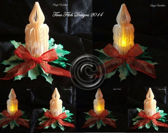 3D Tealight Candle Cutting File Template