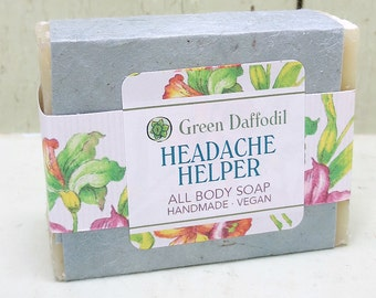 Headache Helper Bar of Soap - Green Daffodil