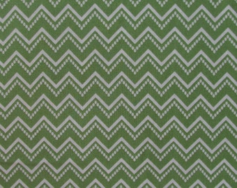 In the Beginning Fabrics Green Chevron from the RANUNCULUS FLORAL Collection- yards