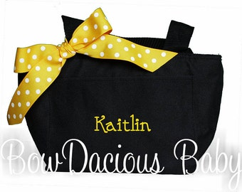 Monogrammed Lunch Bag, Personalized Lunch Bag, Monogrammed Lunch Tote, Personalized Lunch Tote, Cutom Lunch Bag, Personalized, Gift