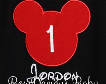 Mickey Mouse Birthday Shirt, Boys Birthday Shirt, Personalized Birthday Shirt, Custom Birthday Shirt, Girls Birthday Shirt, Birthday Gift