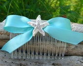 Starfish Beach Wedding Hair Comb, Beach Wedding, Destination Wedding, Bridesmaid Hair Comb, Mermaids, Starfish Hair, Flower Girl