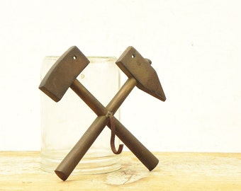 Vintage Hammer and Ax wall hook hardware