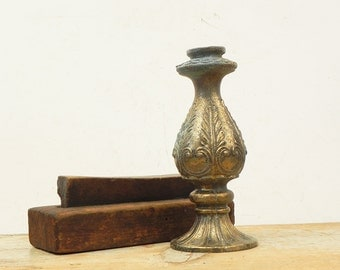 2 vintage brass wall sconce backplate lamp parts