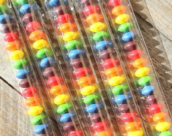 BULK 1x7 Inch Cellophane Bags, Skinny Candy Bags, Candy Tubes, Clear Candy Bags, Party Favor Bags, Candy Bags, Candy Buffet Bags (100)