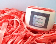 Rag Yarn, Cotton Rag, Locker Hook, Coral, Fiber Arts