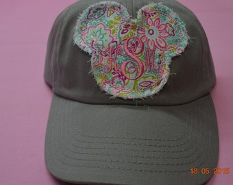 Mickey Minnie Mouse Raggy Hat ADULT Gray