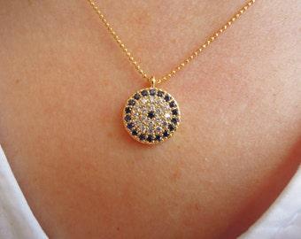 Turkish jewelry, Turkish Evil eye necklace,evil eye jewelry,protection jewelry,Good Luck charm,protection necklace,kaballah jewelry, for her