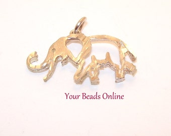 925 Sterling Silver Origami Elephant Pendant