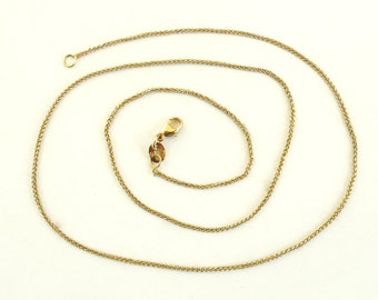 18K Gold Chain Solid Yellow gold necklace wheat chain necklace