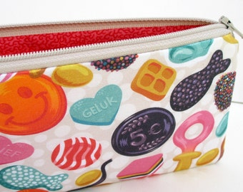 Zippered Pencil Pouch, Dutch Treats, Candy from Holland Bag