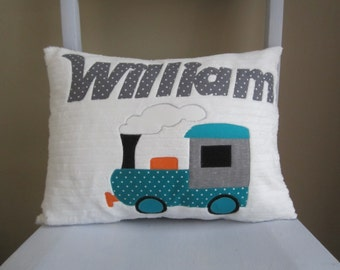 Little Train Engine Personalized Pillow