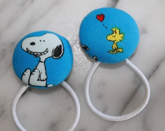 Snoopy and Woodstock pony tail holders make adorable party favors, gifts, everyday hair accessories