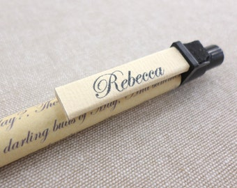 Shakespeare Sonnet Pen - Personalised William Shakespeare pen - Sonnet pen - Shakespeare stationery - Mother's Day Gift - Gifts for teacher