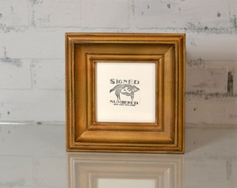"""5x5"""" Square Picture Frame in Scully Style and Color OF YOUR CHOICE - Wooden Square Frame - Traditional 5 x 5 Photo Frame - Handmade Frames"""