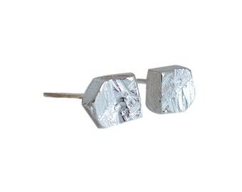 Sterling Silver Hex Studs