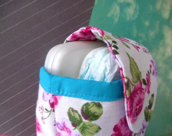 Floral Rose Diaper Clutch