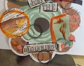 One scrapbooking tag