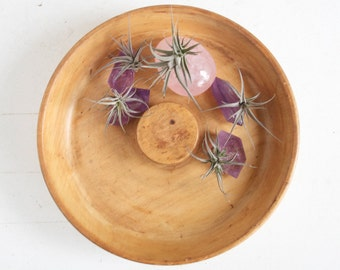 Turned Wood Bowl, Mid Century Modern, Hors D'oeuvres Dish, Entertaining, Chip Bowl