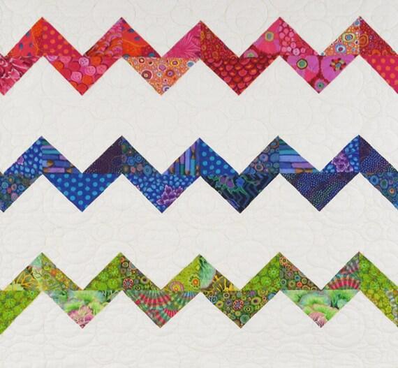 Hello Zig Zag Quilt Pattern : Zig Zag Zany Quilt Pattern from SewOnTheGo on Etsy Studio