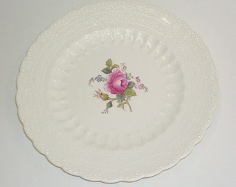 Spode's Jewel Copeland Spode Billingsley Rose Bread and Butter Plate, or Dessert, 8 In.English Spode, Made in England, English Cottage,