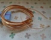 15pcs Metal Headbands 5mm rose gold color with bent end