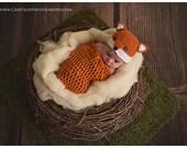 Crochet fox hat, baby boy hat, baby girl hat, fox, photo prop, baby shower gift, fox nursery, coming home hat, crochet newborn hat