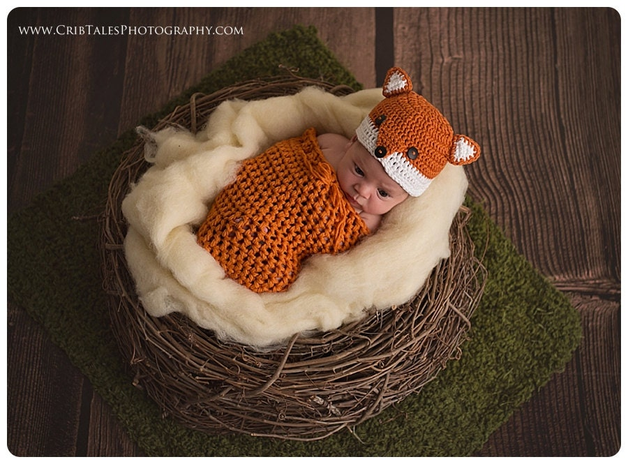 Crochet fox hat baby boy hat baby girl hat by BriarRoseCraftyThing