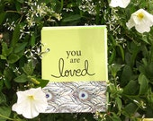 Milestone Baby Scrapbook, Baby Album - You Are Loved Baby Book with Writing Prompts in Pistachio Green