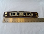 Deluxe Key Band - Brown and White Alligator, 8 Inches