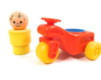 Fisher Price Big Little People Boy With Bike #53