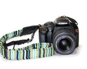 NEOPRENE THIN Camera Strap - Cross-body Length Pick Fabric CANON Nikon