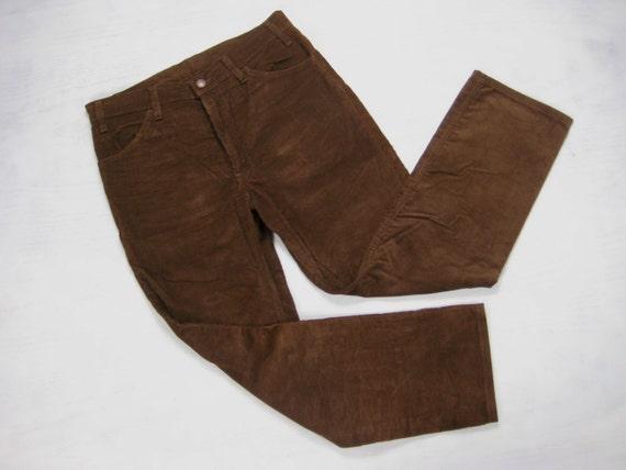 Levis Vintage 519 Corduroy Pants Mens 1970s by NormalAveVintage