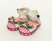 White Flower Mary Janes for BJD Dolls YO-SD, LittleFee, Ange Ai, Ciao Bella S00072A