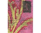 ACEO Original Mixed Media Art Card, ATC, Postage Stamp, SFA, Miniature Art, Collectible Cards, Artist Trading Cards, Mini Art Original
