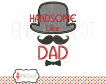 Boy applique embroidery design. Cute boys embroidery saying machine embroidery. Geek / little man / hipster applique in 3 sizes