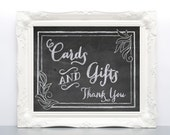 Printable Chalkboard Wedding Sign - Card and Gift Table DIY Sign