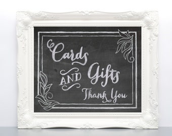 Printable Chalkboard Wedding Sign - Card and Gift Table DIY Sign