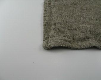 Handmade Linen Bath Mat / Bath Rug --- Natural Dye Free